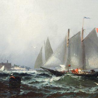Sailing Ships in Harbor (Franklin Dullin Briscoe)