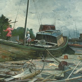 Children Playing on a Boat (Charles Lewis Fussell)