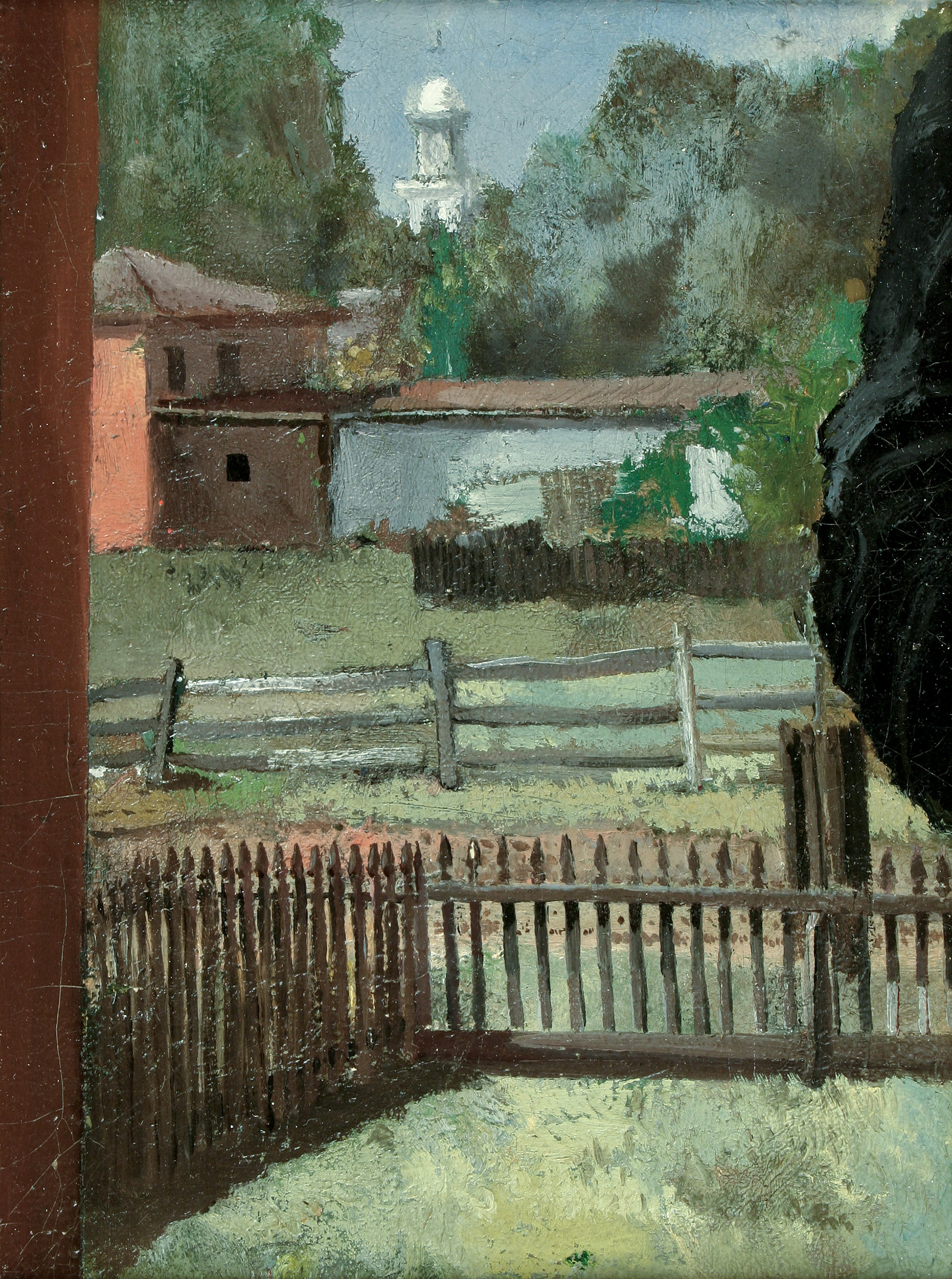 View from the Artist's Back Yard (Charles Lewis Fussell)