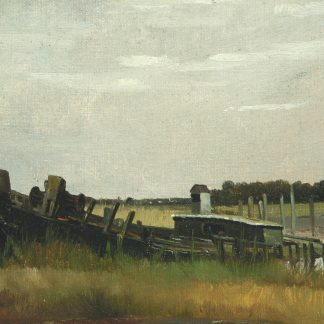 Boat Hull in the Marshes (Charles Lewis Fussell)
