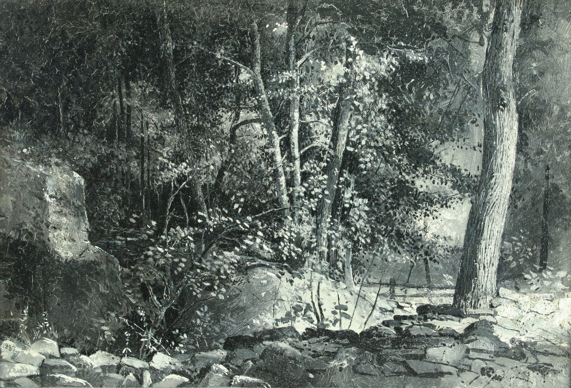 Rocky Riverbed in the Woods (Charles Lewis Fussell)