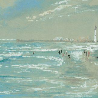 Jersey Coast Beach Scene (Edmund Darch Lewis)