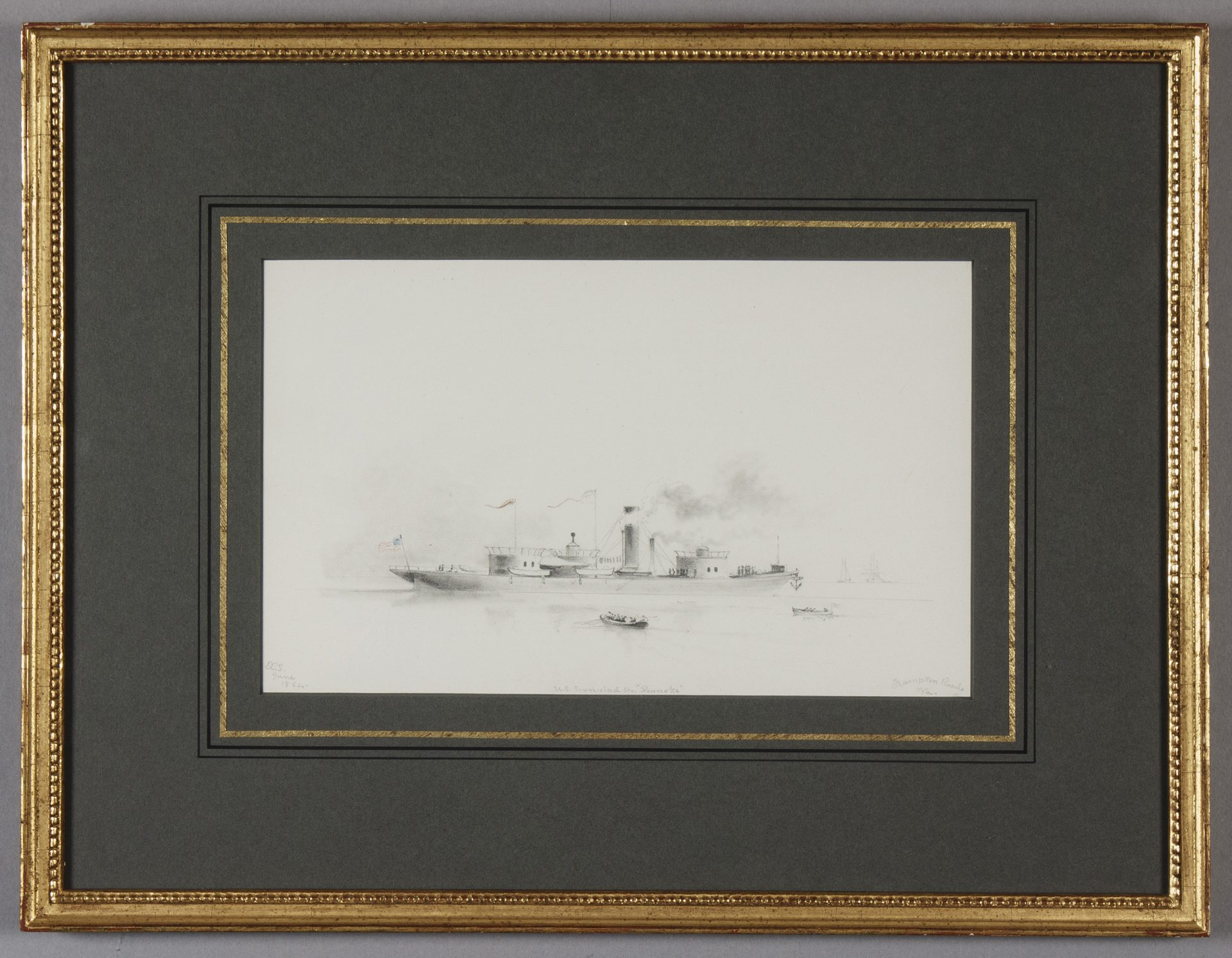 U.S. Ironclad Steamer FRAMED (Xanthus Russell Smith)