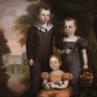 Caroline Elizabeth Thomas with her Brothers (Robert Street)