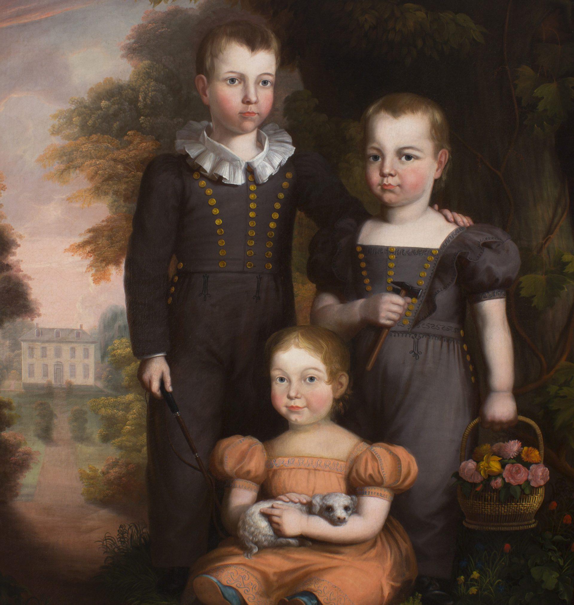 Caroline Elizabeth Thomas with her Brothers DETAIL (Robert Street)
