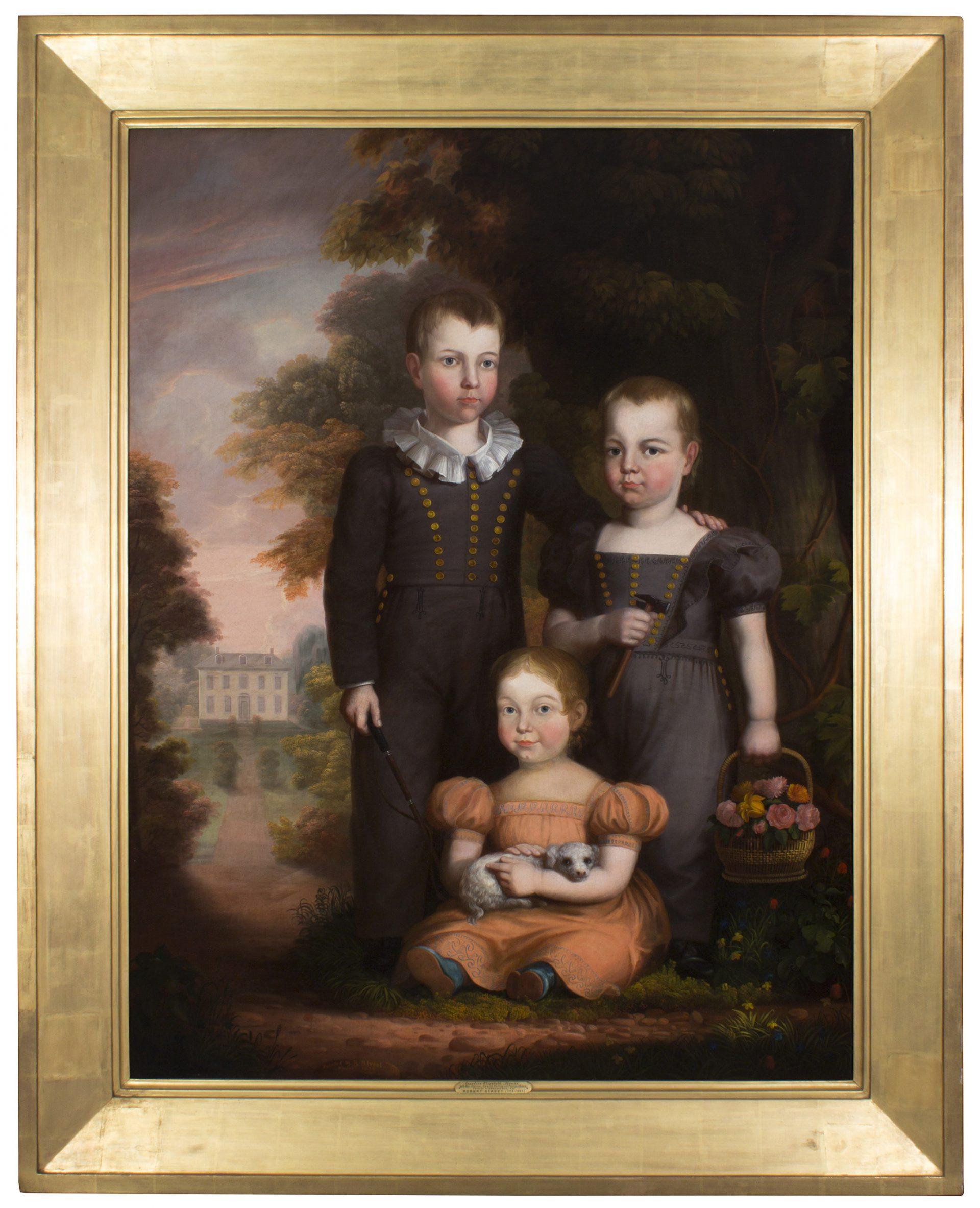 Caroline Elizabeth Thomas with her Brothers FRAMED (Robert Street)