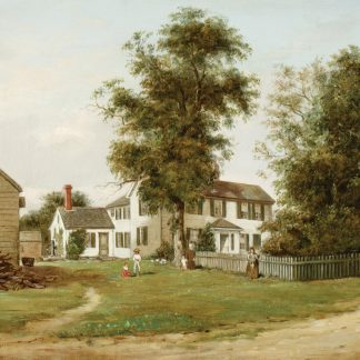 Homestead with Figures ((attributed) John Ross Key)