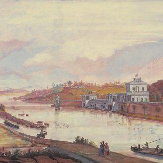 Schuylkill River and Waterworks (Nicolino Calyo)