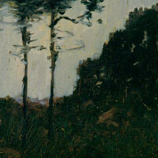 Two Trees by a Hillside (Robertson Kirtland Mygatt)