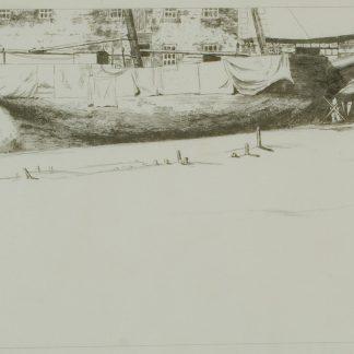 Dismantled Whaler, Provincetown, Massachusetts (Robertson Kirtland Mygatt)