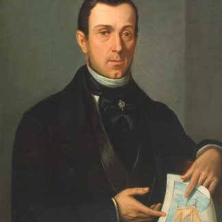 Man Holding an Architectural Drawing (European Unknown)