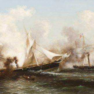 U.S.S. Kearsarge Sinking the Alabama (Xanthus Russell Smith)