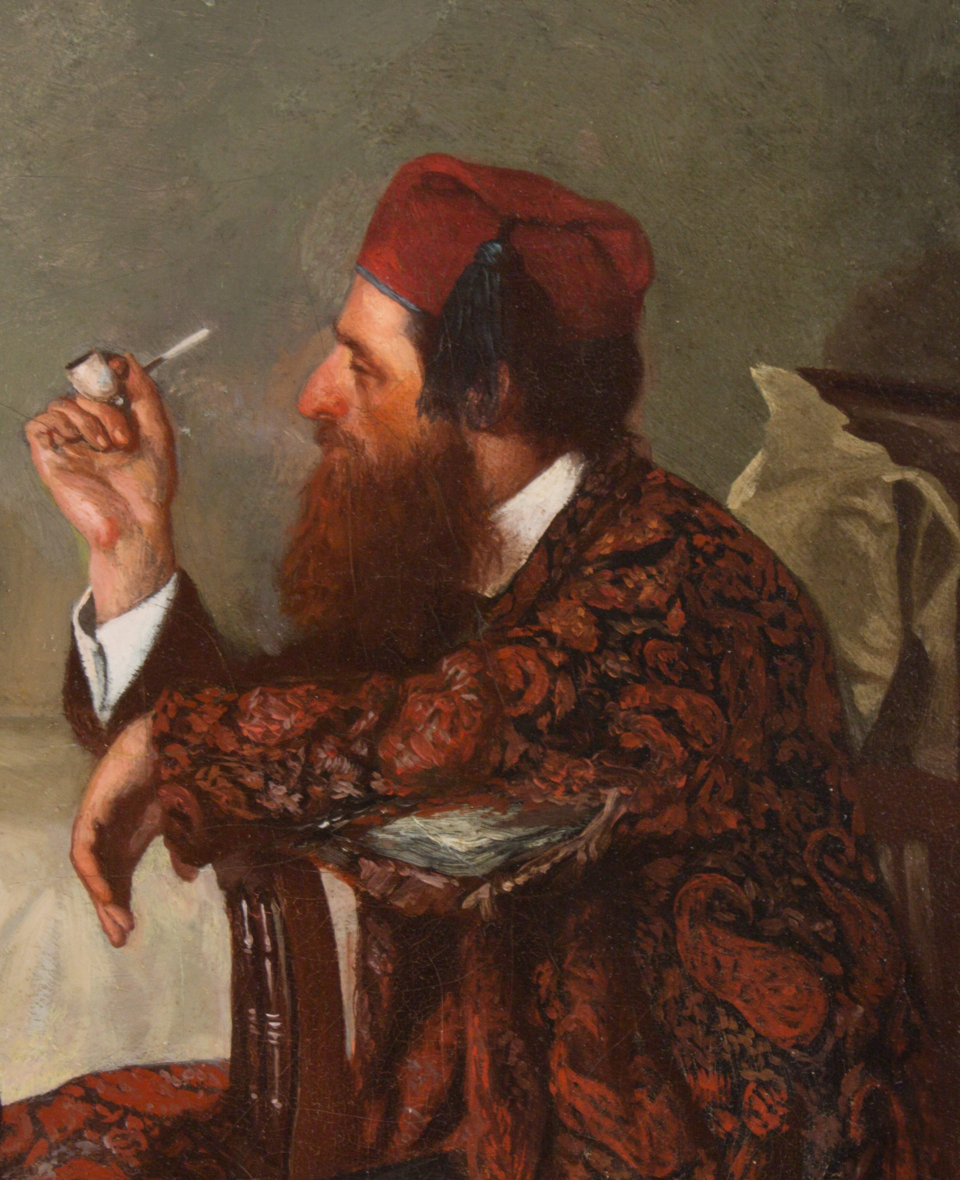 The Artist in His Studio DETAIL (Thomas Hovenden)