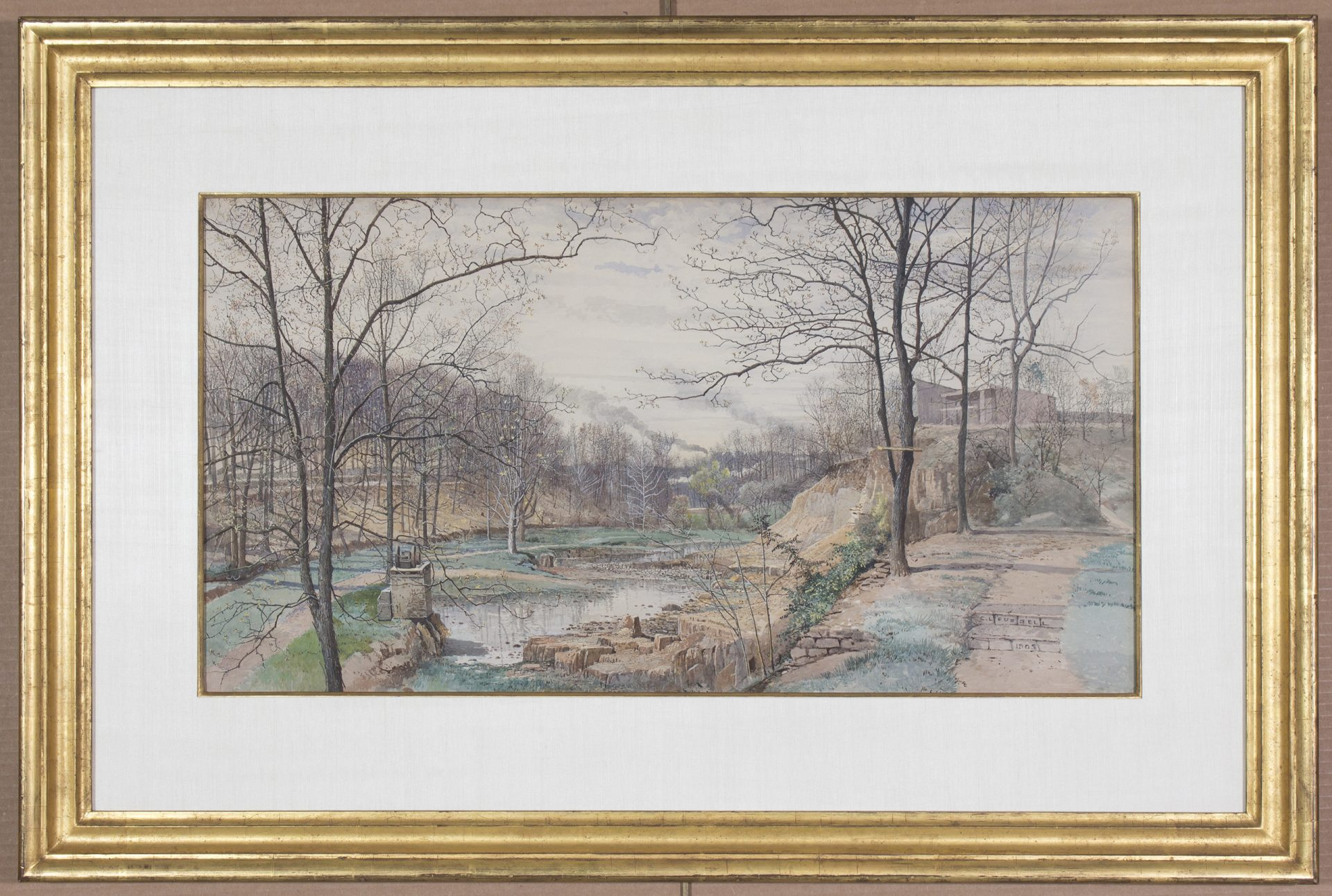 View from Gayley Street, Media PA FRAMED (Charles Lewis Fussell)