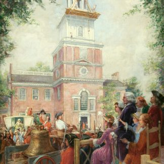 Installation of the Liberty Bell at Independence Hall (Louis Roberts Dougherty)