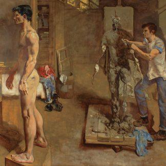 Sculptor and Model (Walter Stuempfig, Jr.)