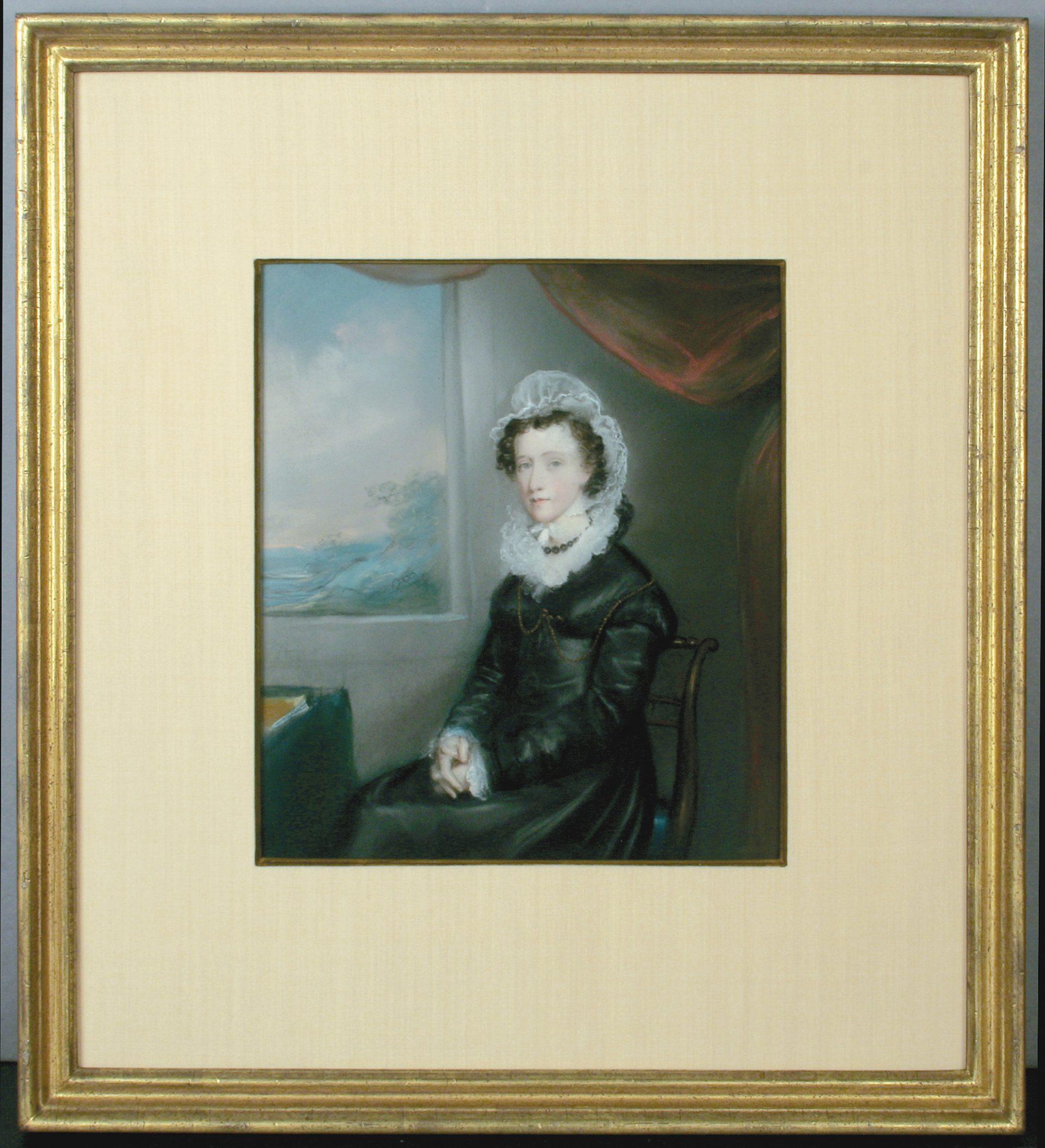 Pendant Portrait of a Woman FRAMED (Ellen Sharples)