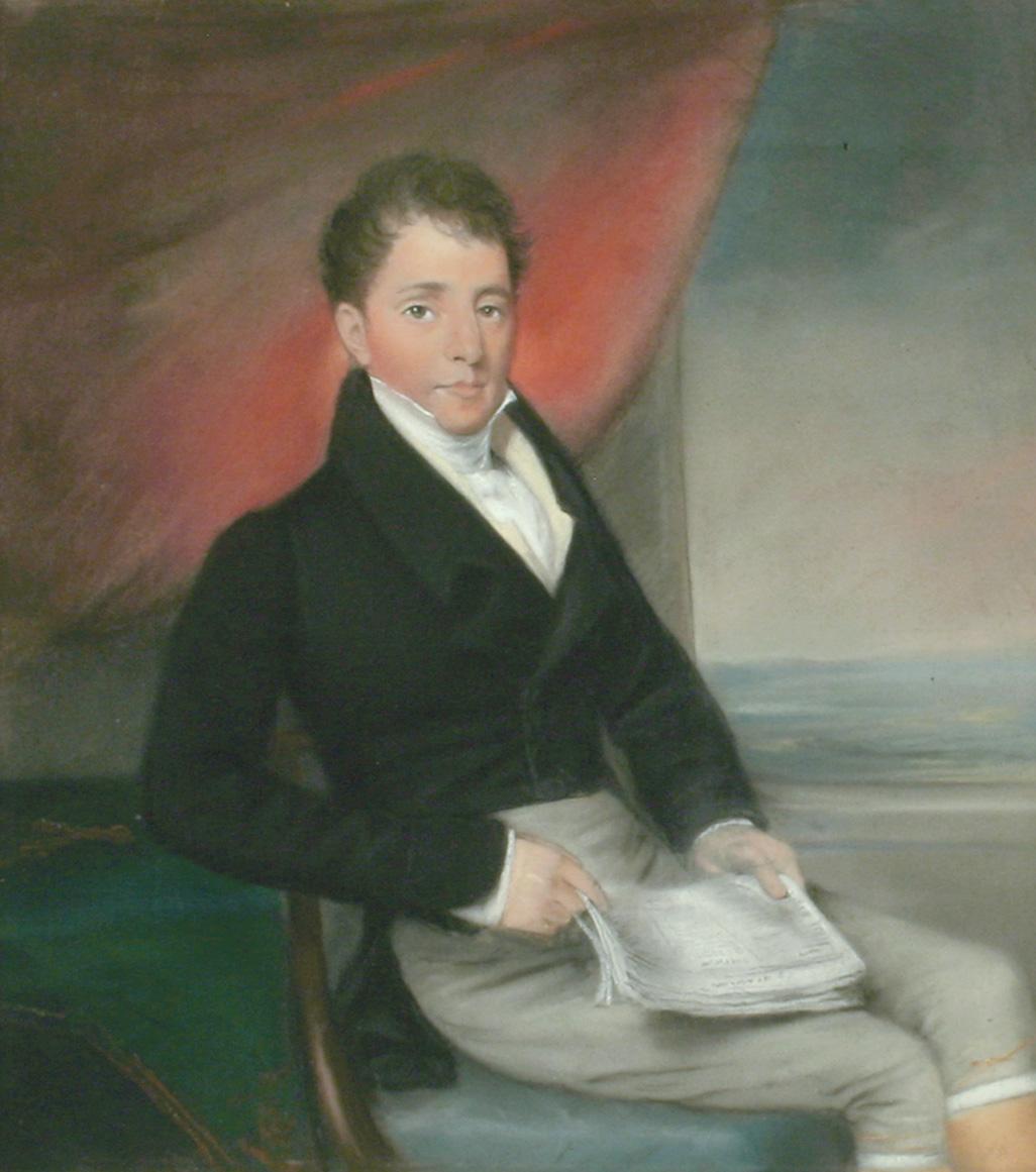 Pendant Portrait of a Man (Ellen Sharples)