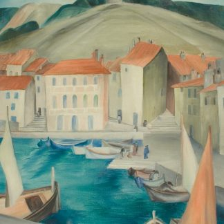 French Harbor Scene (Helen Young)