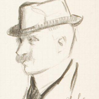Man with Mustache and Hat (Julius Thiengen Bloch)