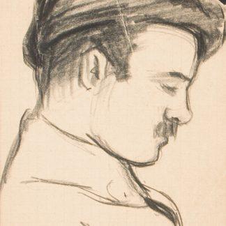 Profile of a Man with Hat (Julius Thiengen Bloch)