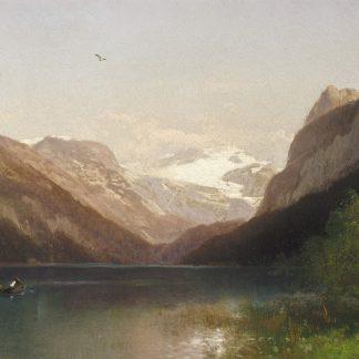 Evening at Lake Lucerne (Herman Herzog)