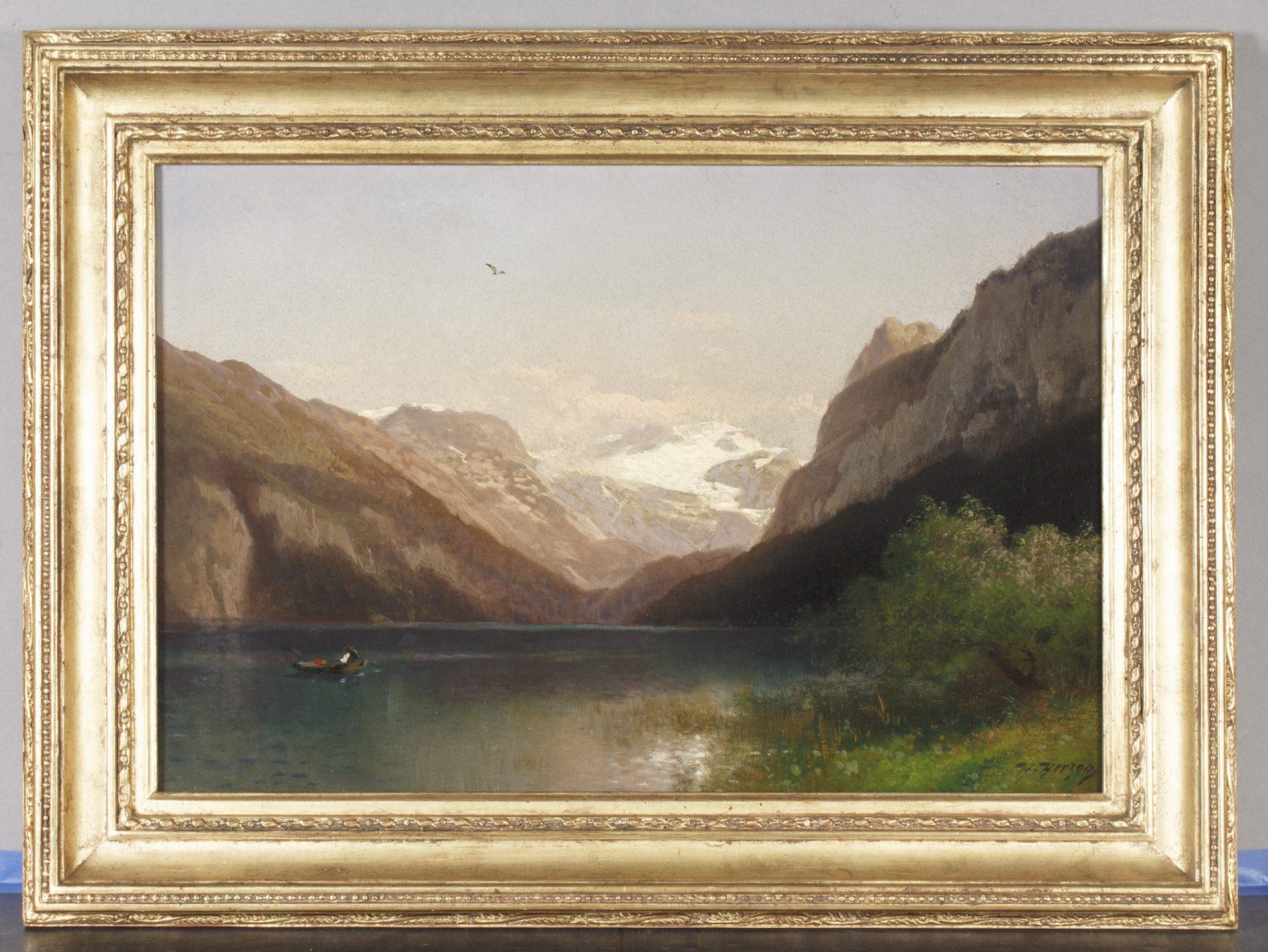 Evening at Lake Lucerne FRAMED (Herman Herzog)