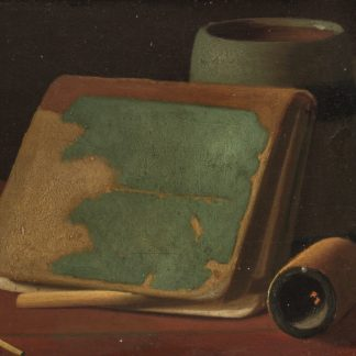 Book Leaning Aagainst Mug with Pipe (John Frederick Peto)