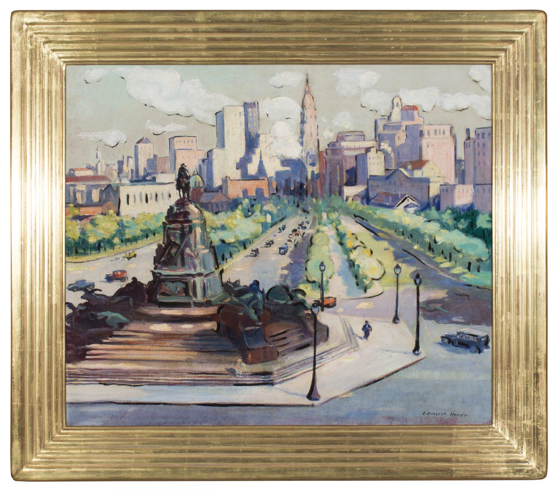 The Parkway, Philadelphia FRAMED (Ella Boocock Hoedt)