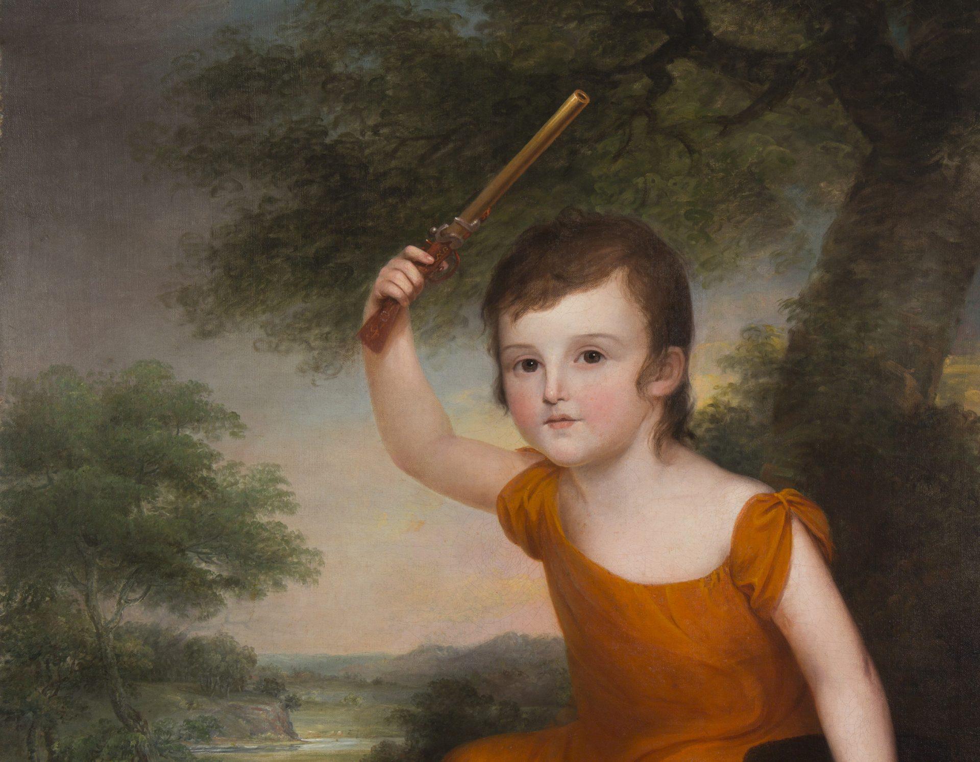 Portrait of John Dunlap, Jr. (1786-1856) DETAIL (James Peale)