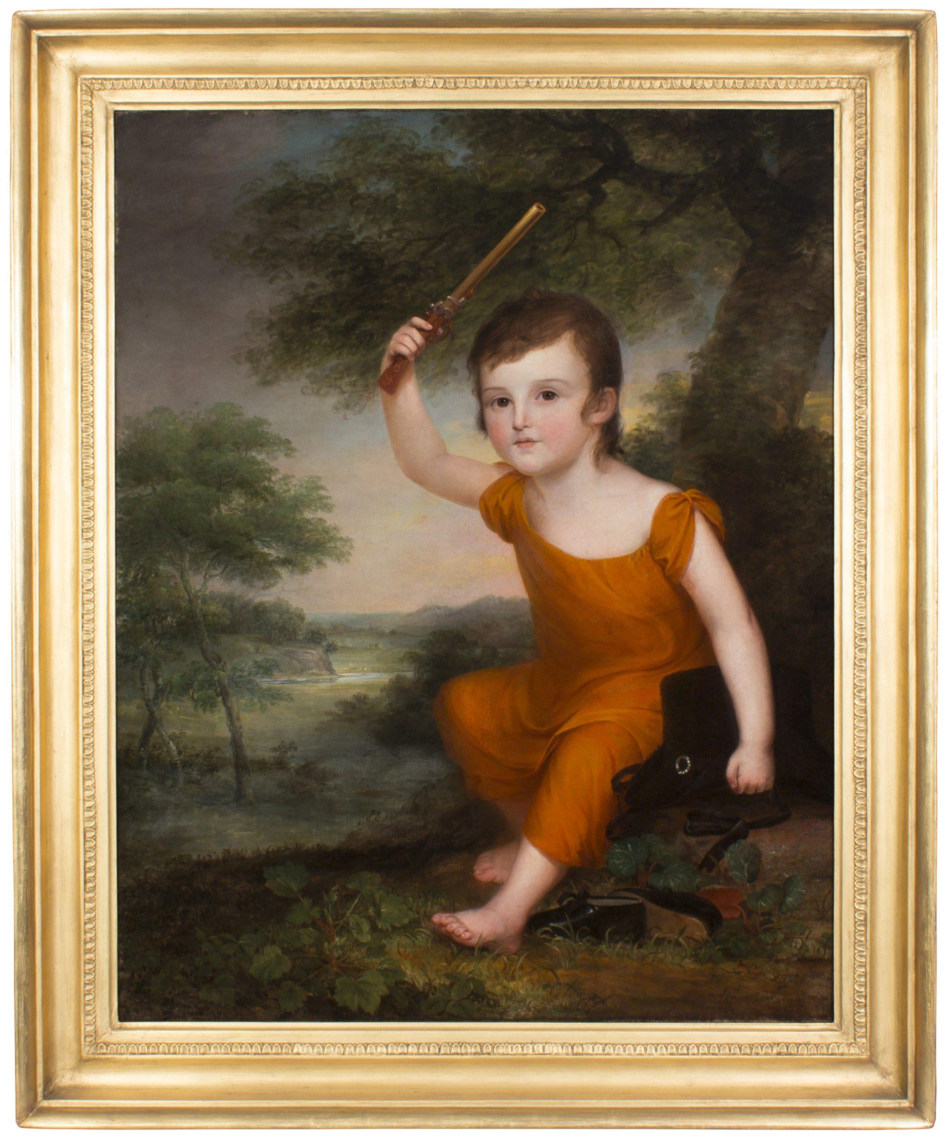 Portrait of John Dunlap, Jr. (1786-1856) FRAMED (James Peale)