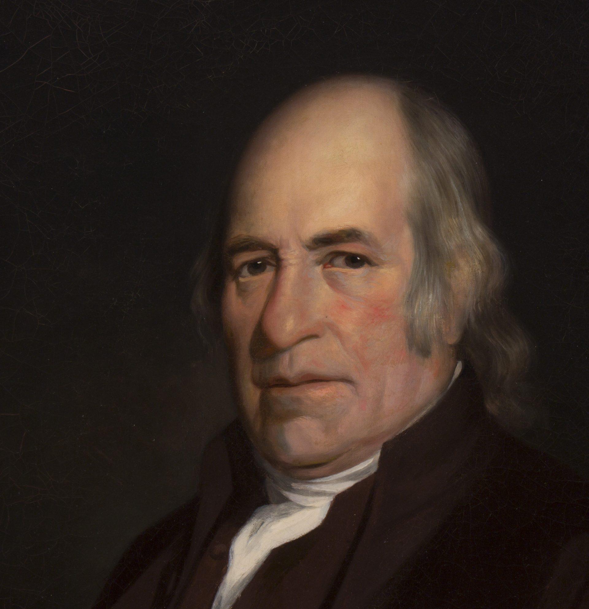 Portrait of John Hall DETAIL (Charles Willson Peale)