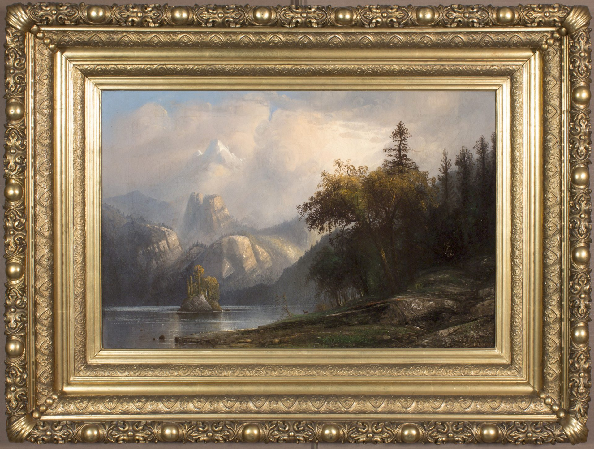 Rocky Mountain Landscape, Colorado FRAMED (Henry Arthur Elkins)