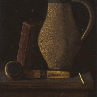 Still Life: Jug and Pipe (John Frederick Peto)